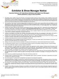 Sharonville Convention Center Exhibitor Notice (thumb)