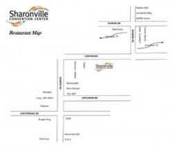 Sharonville Convention Center Nearby Restaurant Map (thumb)